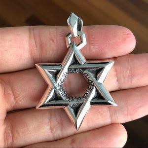 Chrome Hearts Star of David pendant 100% AUTH